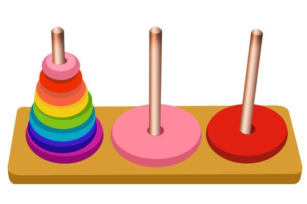 漢諾塔遊戲:遞歸經典問題